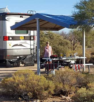 Parked at Cholla Campground on Roosevelt Lake