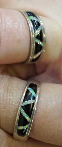Matching rings with southwest theme