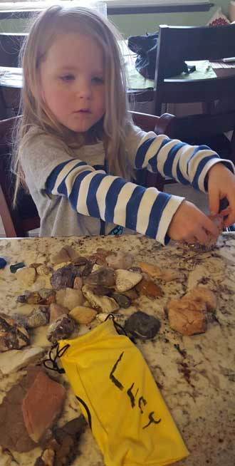 Lucy adds to her rock collection
