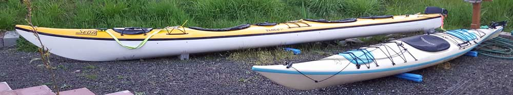The kayaks are home