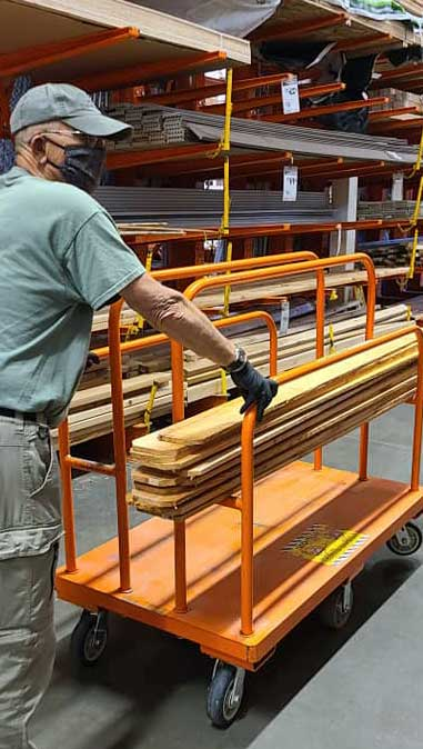 Shopping for materials at Home Depot