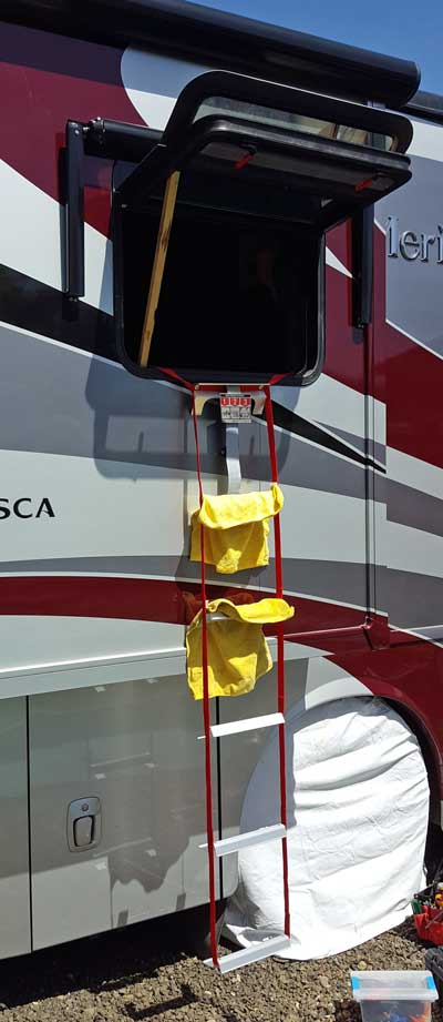 Escape ladder installed