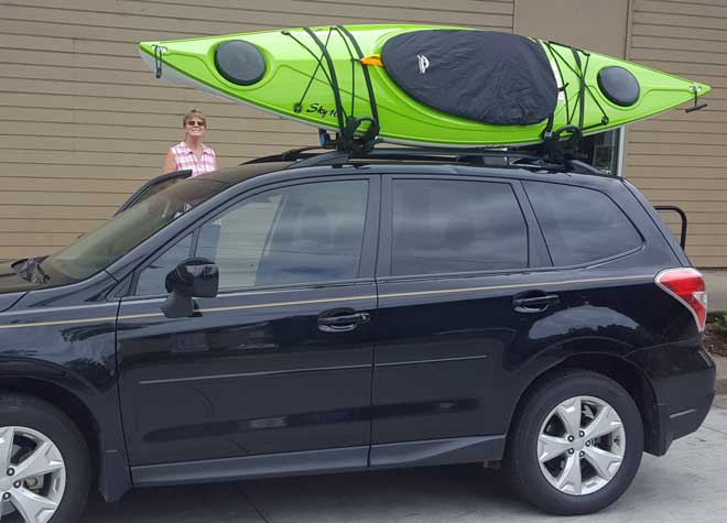 Gwen's new kayak