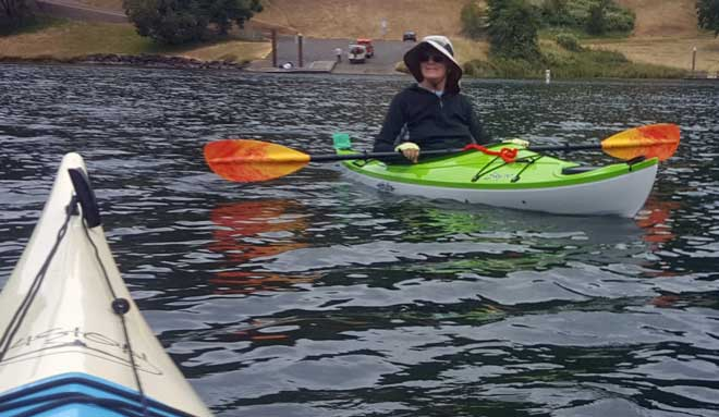 Gwen enjoys her kayak