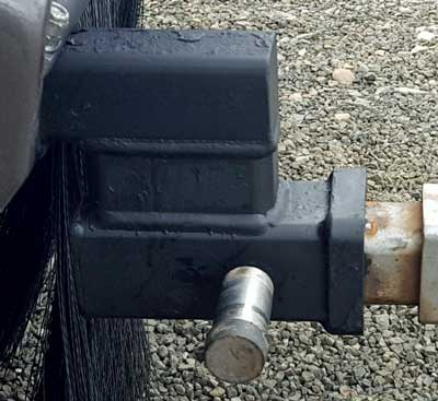 Lower the hitch by four inches