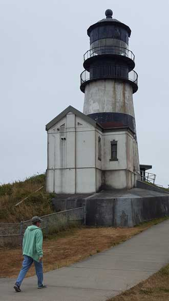 Cape Disappointment Lighthouse overlooking the mouth of the Columbia River