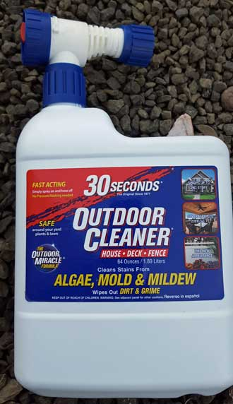 Used this to clean the skirt around the trailer