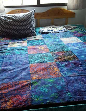 Gwen made a new quilt for Miss Dory