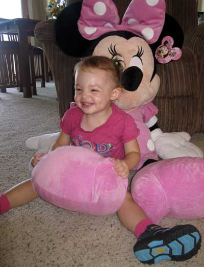 Chloe with Minnie Mouse