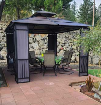 The gazebo project is completed