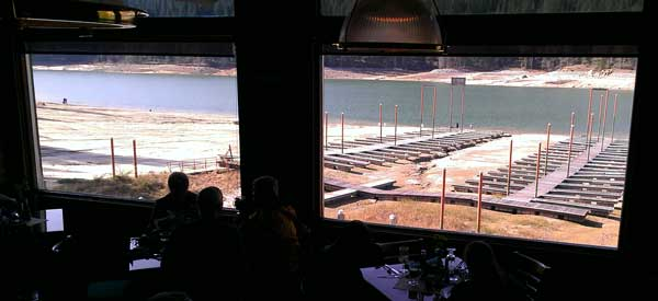 Our view of Bass Lake from Ducey Restaurant