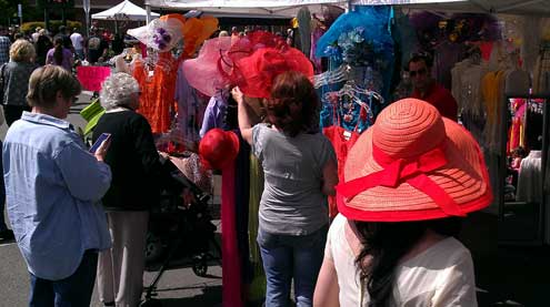 A Big Hat booth