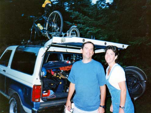 The beginning of a bicycle tour, 1997