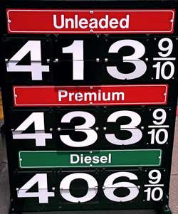 Unleaded is more expensive than diesel