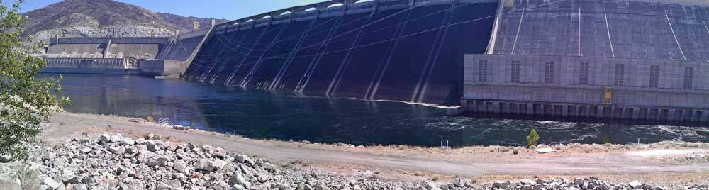 The Grand Coulee Dam face