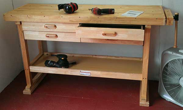 The completed workbench
