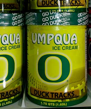 University of Oregon Ducks Ice Cream