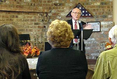 Norm speaks while celebrating the life of Jane Lee