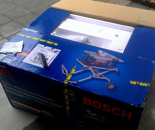 The Bosch Table saw arrives