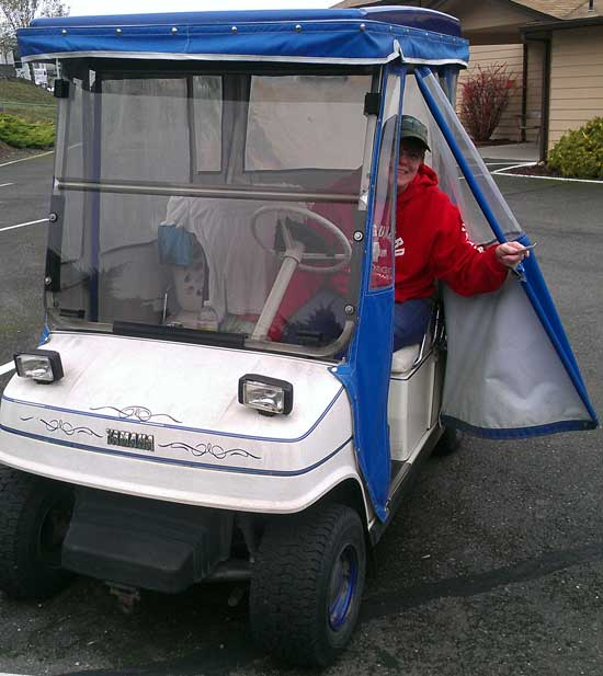 We've been loaned a golf cart for several months