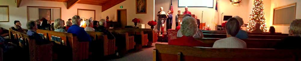 Christmas Eve service in Sutherlin