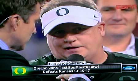 Oregon Duck win the Fiesta Bowl