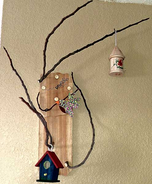 "My ""birdhouse clock"" looks pretty good on the wall"