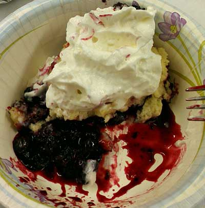 Blueberry Cobbler for dessert