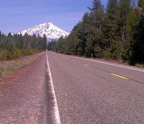 Mt. Shasta in northern California from Highway 89