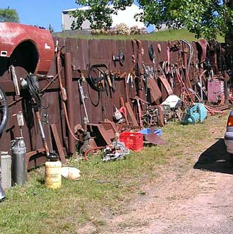 This was a permanent yard sale, lots of used auto and motorcycle parts, nothing for us