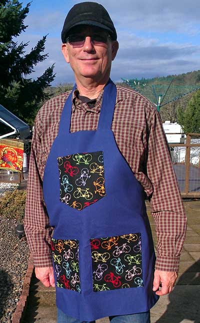 My new shop apron made by Gwen
