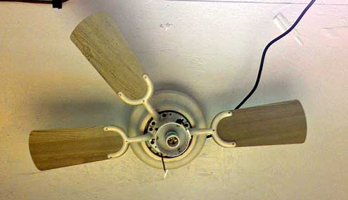A new ceiling fan in my shop