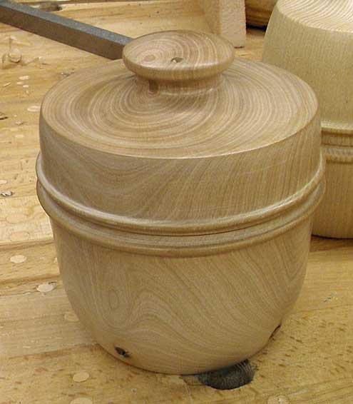 A completed bowl and lid