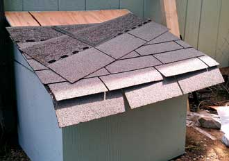 Three tab shingles are added