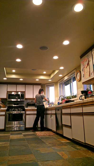 The major project in reno, kitchen lighting