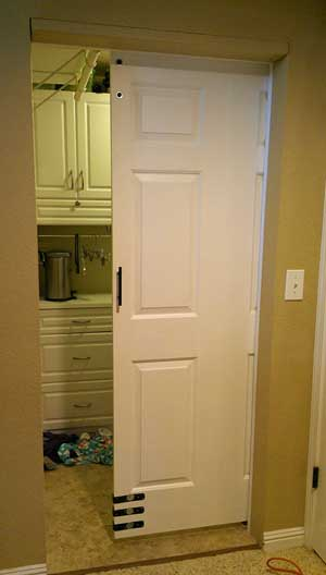 Barn door for the laundry room