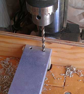 Drilling the aluminum antennae part