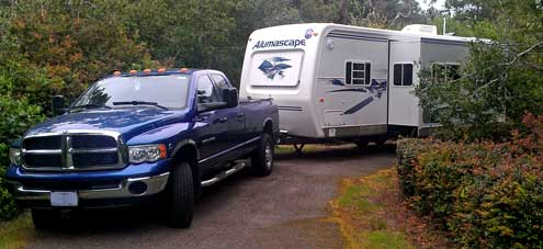 Parked at Waxmyrtle Campground south of Florence, Oregon