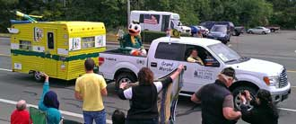 Oregon Ducks Mascot is the Grand Marshal
