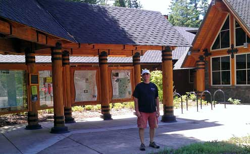 At the McKenzie Bridge Ranger Station