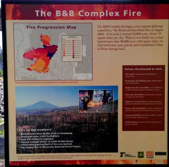 Learning about the B & B complex fire which burned 140 square miles