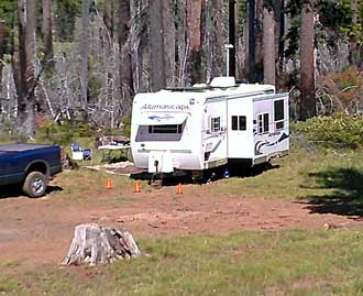 Boondock camped in the Deschutes National Forest, Summer, 2013