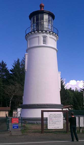 Umpqua River Lighthouse, Behind: Lighthouses of Oregon