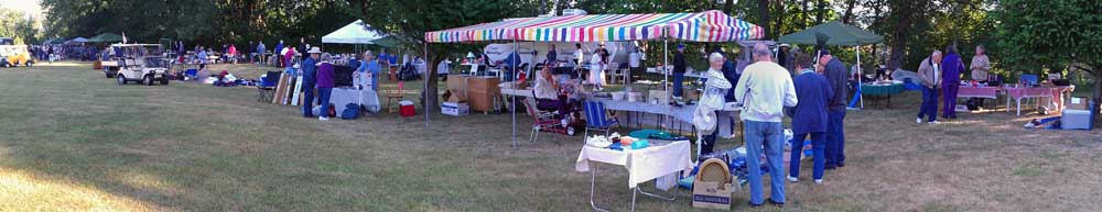 An overview of the yard sale
