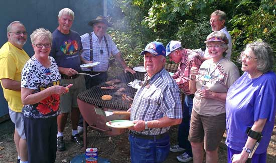 Labor Day Barbeque at Timber Valley, Behind: The Timber Valley picnic area
