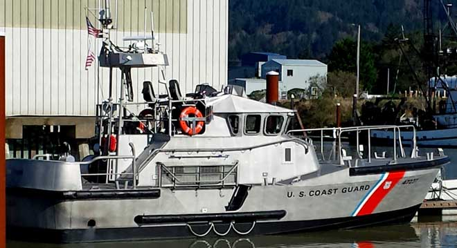 USCG Motor Life Boat, Behind: rear view