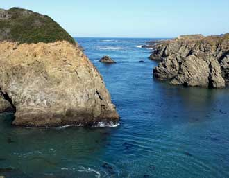 Mendocino headlands, Behind: Panorama of the Mendocino Headlands