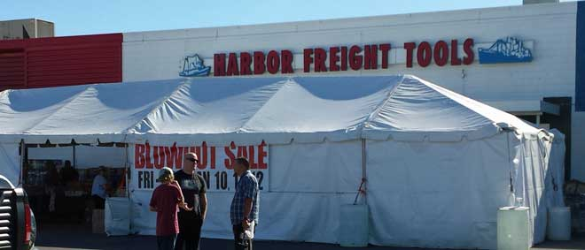Harbor Freight Parking Lot sale
