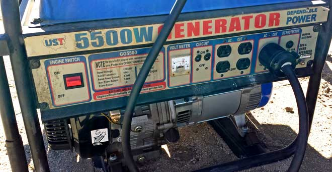 What's wrong with this generator in an RV park?, Behind: Only 40 yards to site 38, our site