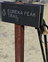 Eureka Peak Trail, Behind: illustrating the steepness of the trail as we approach the peak